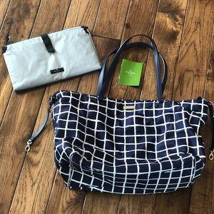 Kate Spade diaper bag and matching changing mat